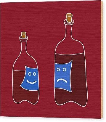 Wine Lovers Wood Print by Frank Tschakert