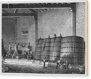Wine Production, 19th Century Wood Print by Cci Archives
