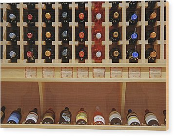 Wood Print featuring the photograph Wine Rack - 1 by Nikolyn McDonald