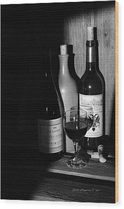 Wine Sampling Wood Print
