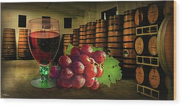 Wood Print featuring the photograph Wine Tasting by Hanny Heim