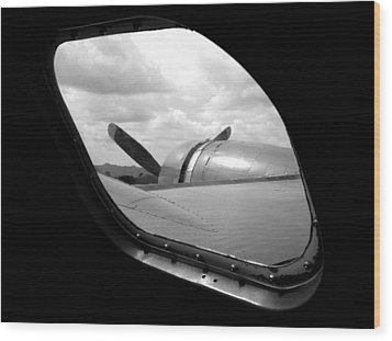 Wing And Window Wood Print by Dan Holm