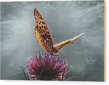 Wood Print featuring the photograph Winged Things by Jessica Brawley