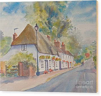 Wood Print featuring the painting Wingham Nr.canterbury by Beatrice Cloake