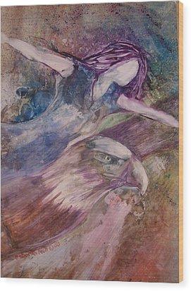 Wings Like Eagles Wood Print