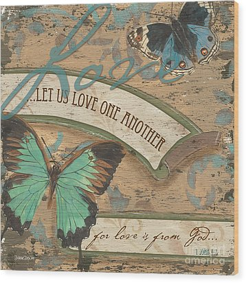 Wings Of Love Wood Print by Debbie DeWitt