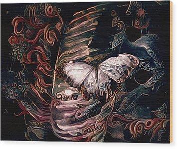 Wings Of The Night Wood Print by Susan Maxwell Schmidt