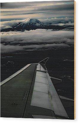 Wings Over Rainier Wood Print