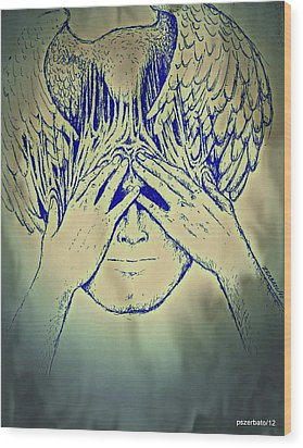 Wings To The Thoughts Wood Print by Paulo Zerbato