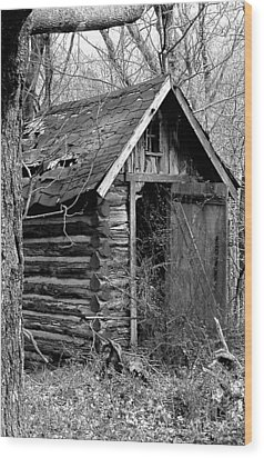 Winslowouthouse Wood Print by Curtis J Neeley Jr