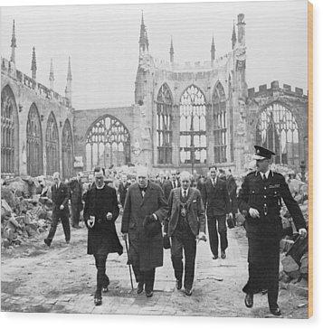 Winston Churchill 1874-1965, Walks Wood Print by Everett