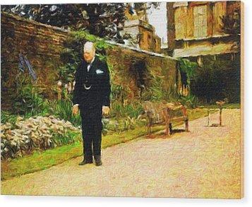 Winston Churchill, 1943 Wood Print by Vincent Monozlay