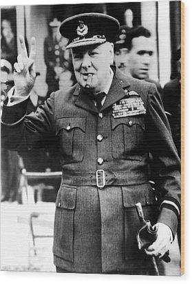 Winston Churchill, 1961 Wood Print by Everett