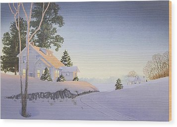 Winter Afterglow Wood Print