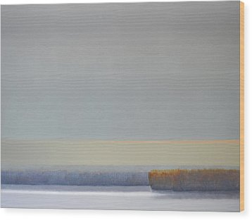 Wood Print featuring the painting Winter Afternoon White Rock by Cap Pannell