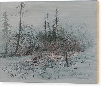 Winter, Alberta Wood Print