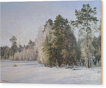 Winter Wood Print by Andrey Soldatenko
