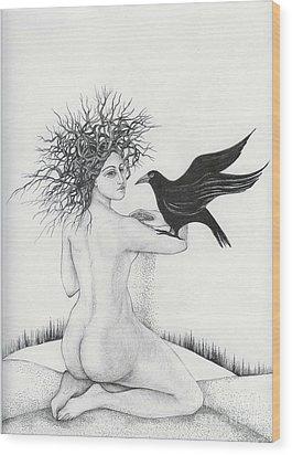 Winter Wood Print by Anna  Duyunova