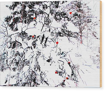 Winter Apple Wood Print by Yury Bashkin
