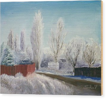 Winter At Bonanza Wood Print