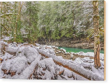 Wood Print featuring the photograph Winter At Eagle Falls by Spencer McDonald