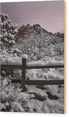 Wood Print featuring the photograph Winter At Garden Of The Gods by Ellen Heaverlo