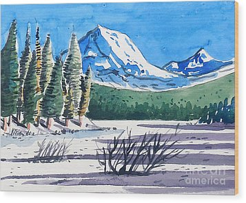 Winter At Mt. Lassen Wood Print by Terry Banderas