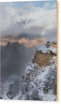 Wood Print featuring the photograph Winter At The Grand  Canyon by Sandra Bronstein