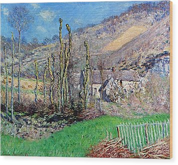 Winter At The Val De Falaise Wood Print by Claude Monet
