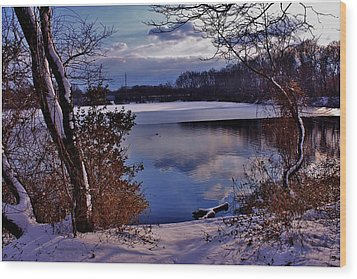 Winter At Twin Lakes Wood Print by Mikki Cucuzzo