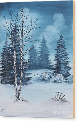 Winter Wood Print by Barbara Teller