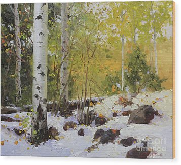 Winter Beauty Sangre De Mountain 2 Wood Print by Gary Kim