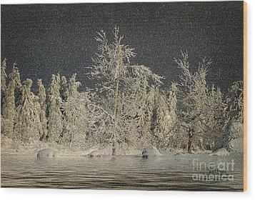 Winter Begins Wood Print by Lois Bryan