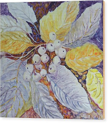 Wood Print featuring the painting Winter Berries by Joanne Smoley