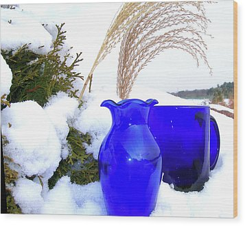Wood Print featuring the photograph Winter Blues II by Randy Rosenberger