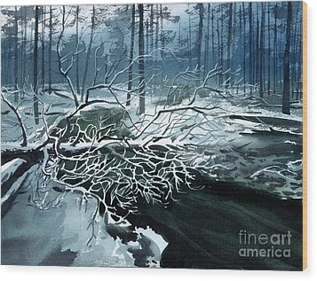Winter Branches Wood Print by Sergey Zhiboedov