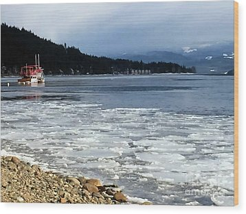 Wood Print featuring the photograph Cottage Life In Winter by Victor K