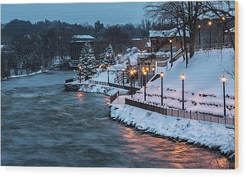 Wood Print featuring the photograph Winter Canal Walk by Everet Regal