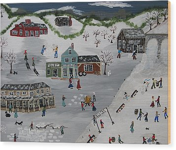 Winter Carnival Wood Print by Lee Gray