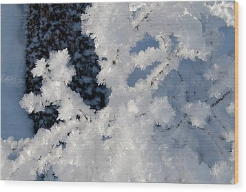 Winter Crystal Wood Print