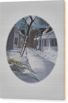 Winter Day Wood Print by Kathleen Romana