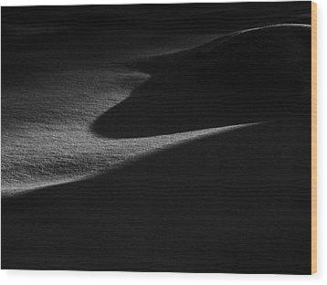Winter Dunes Wood Print by Stan Wojtaszek