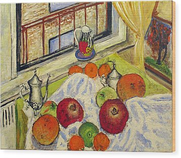 Winter Fruits Wood Print by Vladimir Kezerashvili