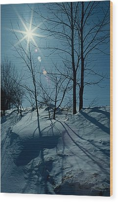 Winter Glow Wood Print by Raju Alagawadi