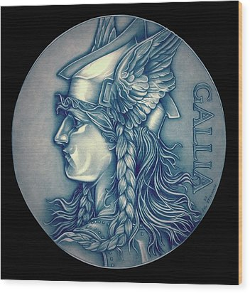 Winter Goddess Of Gaul Wood Print by Fred Larucci