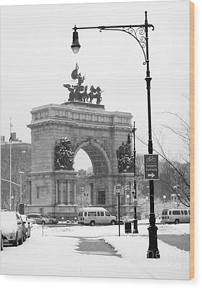Winter Grand Army Plaza Wood Print by Mark Gilman