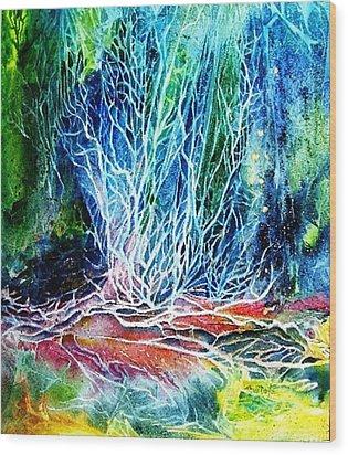 Winter Habitat No.2  Wood Print by Trudi Doyle