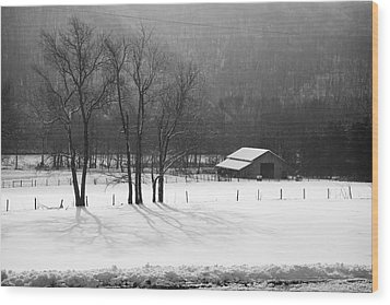 Wood Print featuring the photograph Winter In Boxley Valley by Michael Dougherty