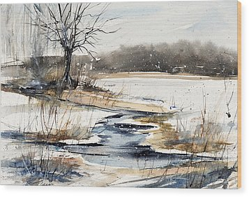 Winter In Caz Wood Print by Judith Levins