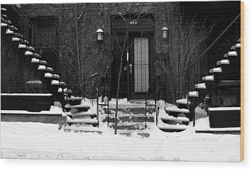Winter In Montreal Wood Print by Robert Knight